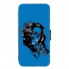 Coque Galaxy S7 EDGE Lady skull bleu