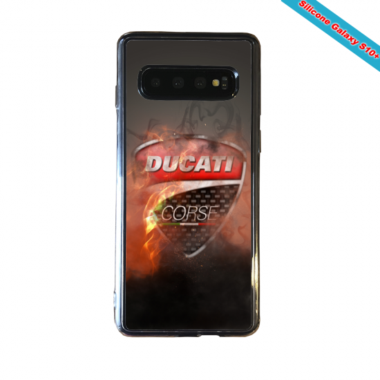Coque silicone Huawei P8 Fan de Ligue 1 Lyon splatter