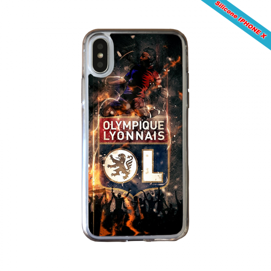Coque silicone Huawei P10 PLUS Fan de Ligue 1 St-Etienne splatter