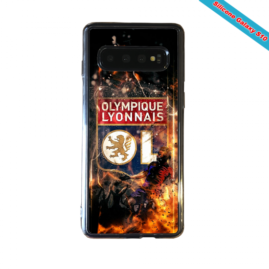 Coque silicone Huawei P10 PLUS Fan de Ligue 1 Lyon splatter