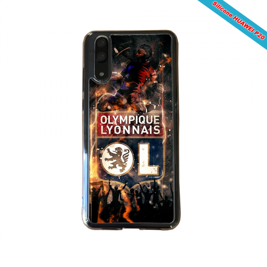 Coque silicone Huawei P10 PLUS Fan de Ligue 1 Bordeaux splatter