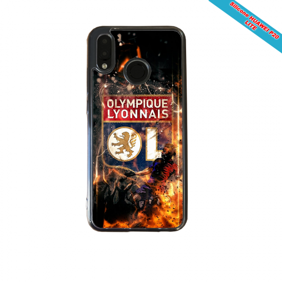 Coque silicone Huawei P10 PLUS Fan de Ligue 1 Angers splatter