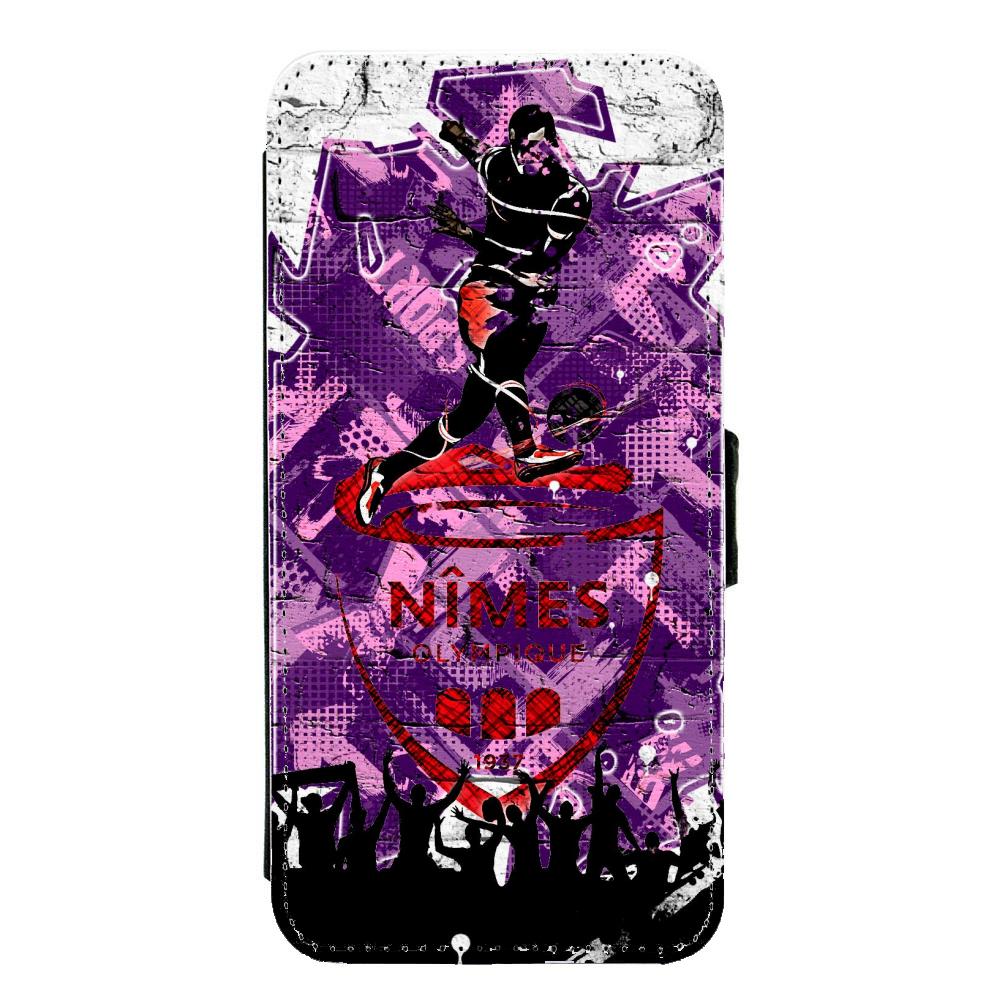 Coque silicone Iphone X ou XS verre trempé Fan de Ligue 1 Angers splatter