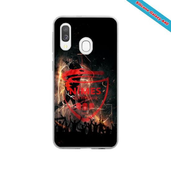 Coque silicone Iphone X ou XS verre trempé Fan de Rugby Toulouse fury