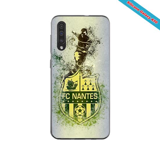 Coque silicone Iphone 11 PRO verre trempé Fan de Ligue 1 Toulouse cosmic