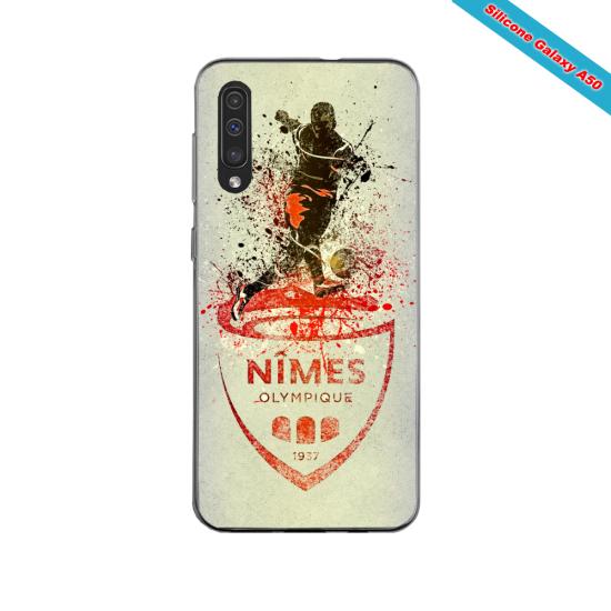 Coque silicone Iphone 11 PRO verre trempé Fan de Ligue 1 Strasbourg splatter