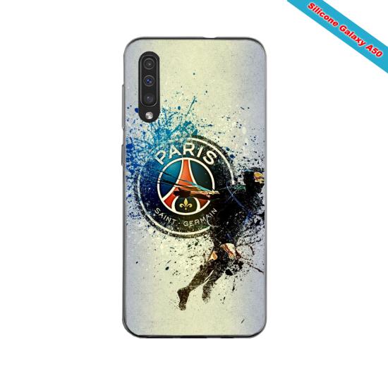Coque silicone Iphone 11 PRO verre trempé Fan de Ligue 1 St-Etienne splatter