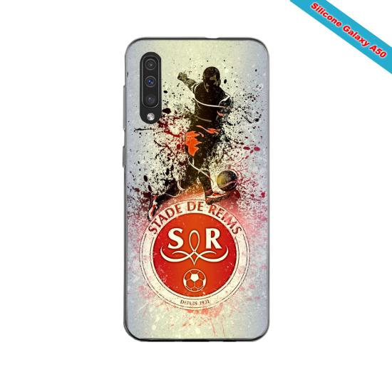 Coque silicone Iphone 11 PRO verre trempé Fan de Ligue 1 Rennes splatter