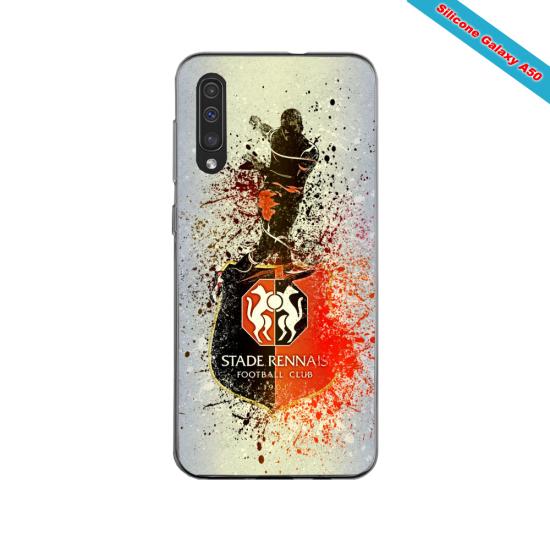 Coque silicone Iphone 11 PRO verre trempé Fan de Ligue 1 Reims splatter