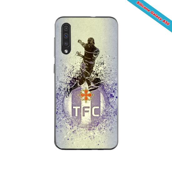Coque silicone Iphone 11 PRO verre trempé Fan de Ligue 1 Nice splatter