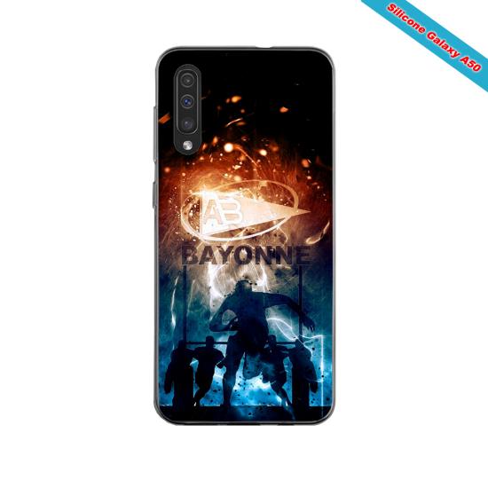 Coque silicone Iphone 11 PRO verre trempé Fan de Ligue 1 Lyon splatter