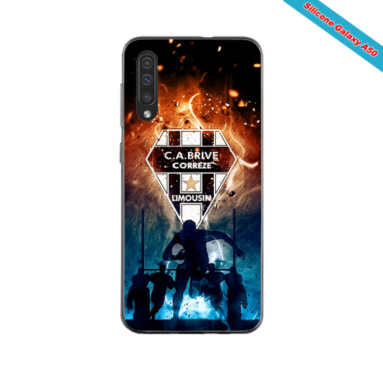 Coque silicone Iphone 11 PRO verre trempé Fan de Ligue 1 Dijon splatter