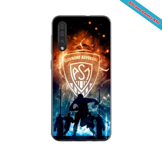 Coque silicone Iphone 11 PRO verre trempé Fan de Ligue 1 Bordeaux splatter