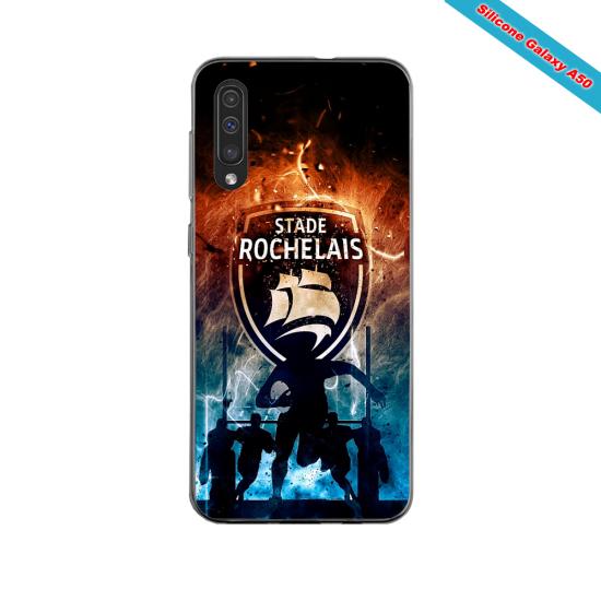 Coque silicone Iphone 11 PRO verre trempé Fan de Ligue 1 Angers splatter