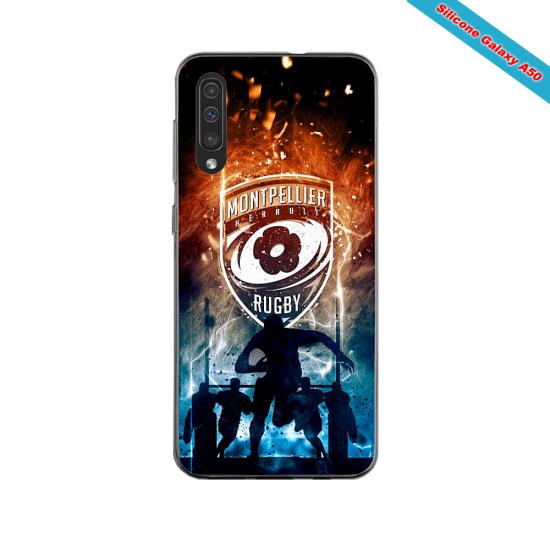 Coque silicone Iphone 11 PRO verre trempé Fan de Ligue 1 Strasbourg cosmic