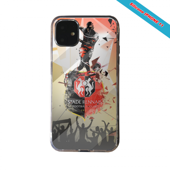 Coque silicone Galaxy J4 CORE Fan de Ligue 1 St-Etienne splatter