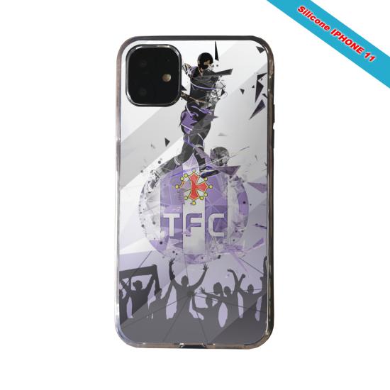 Coque silicone Galaxy J4 CORE Fan de Ligue 1 Reims splatter