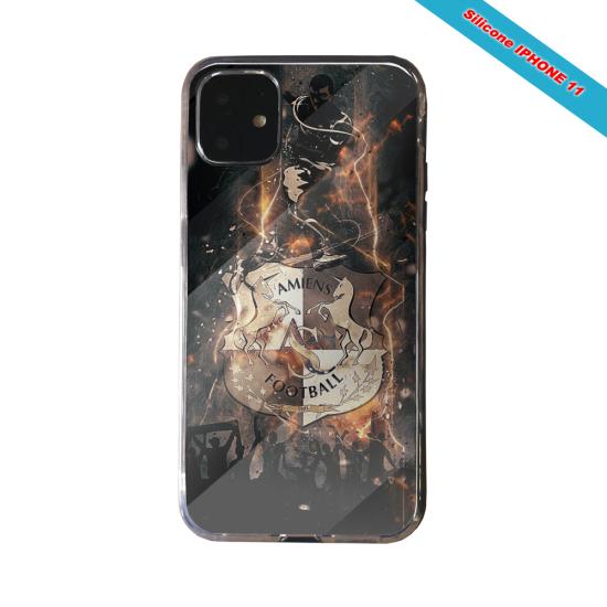 Coque silicone Galaxy J4 CORE Fan de Ligue 1 Paris splatter