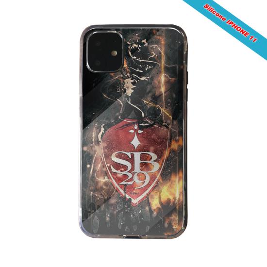 Coque silicone Galaxy J4 CORE Fan de Ligue 1 Nantes splatter