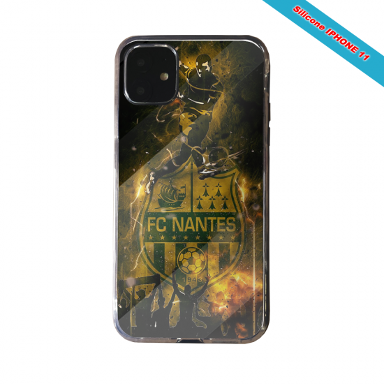 Coque silicone Galaxy J4 CORE Fan de Ligue 1 Brest splatter
