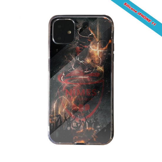 Coque silicone Galaxy J4 CORE Fan de Ligue 1 Angers splatter