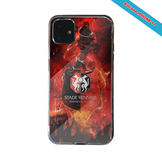 Coque silicone Galaxy J4 CORE Fan de Ligue 1 Strasbourg cosmic