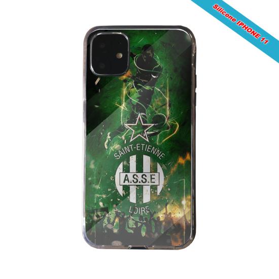 Coque silicone Galaxy J4 CORE Fan de Ligue 1 St-Etienne cosmic