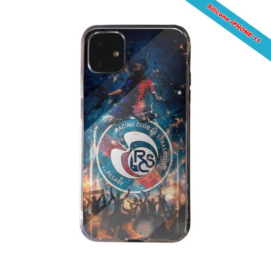 Coque silicone Galaxy J4 CORE Fan de Ligue 1 Rennes cosmic