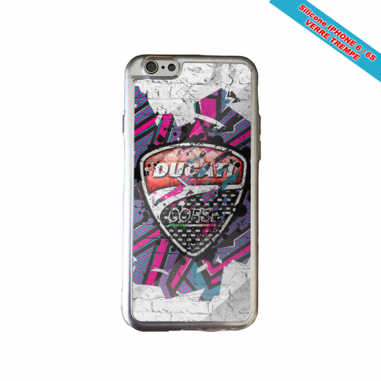 Coque Galaxy S5Mini skull tribal coeur
