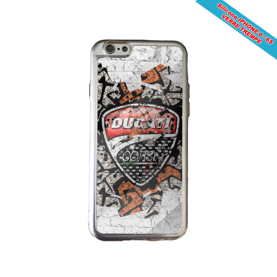 Coque Galaxy S4Mini skull tribal coeur