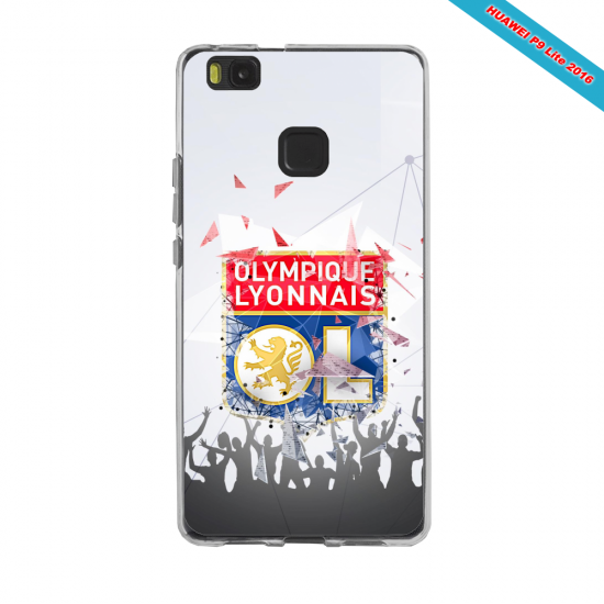 Coque silicone Galaxy J6 PLUS Fan de Ligue 1 Lyon splatter
