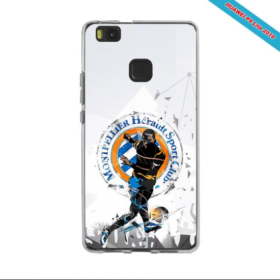 Coque silicone Galaxy J6 PLUS Fan de Ligue 1 Angers splatter