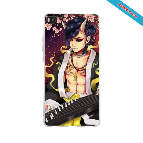 Coque silicone Huawei P30 PRO Fan de Ligue 1 Angers splatter