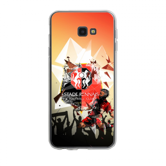 Coque silicone Iphone 6/6S PLUS verre trempé Fan de Ligue 1 Toulouse splatter