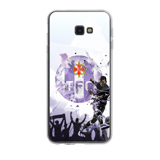 Coque silicone Iphone 6/6S PLUS verre trempé Fan de Ligue 1 St-Etienne splatter