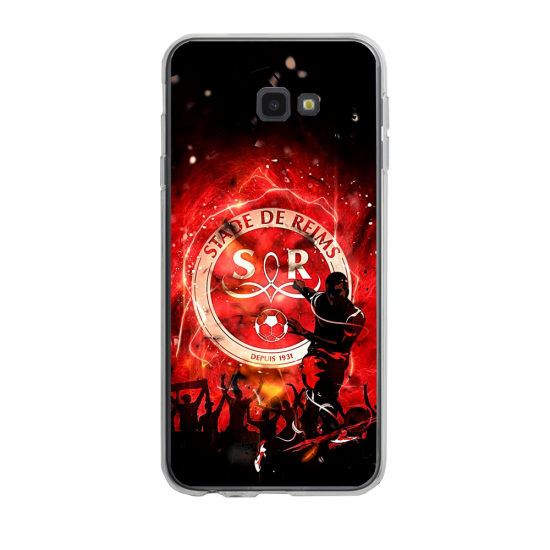 Coque silicone Iphone 6/6S PLUS verre trempé Fan de Ligue 1 Angers splatter