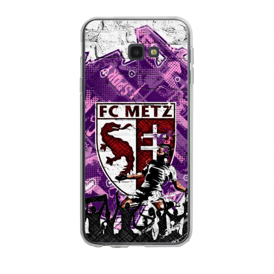 Coque silicone Iphone SE 2020 verre trempé Fan de Ligue 1 Nimes splatter
