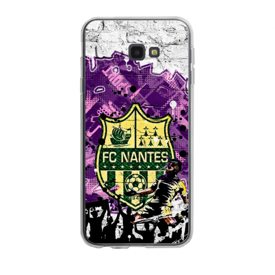 Coque silicone Iphone SE 2020 verre trempé Fan de Ligue 1 Montpellier splatter