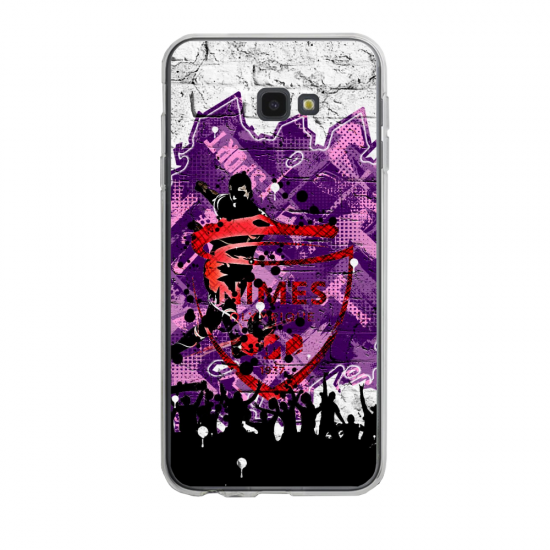 Coque silicone Iphone SE 2020 verre trempé Fan de Ligue 1 Metz splatter