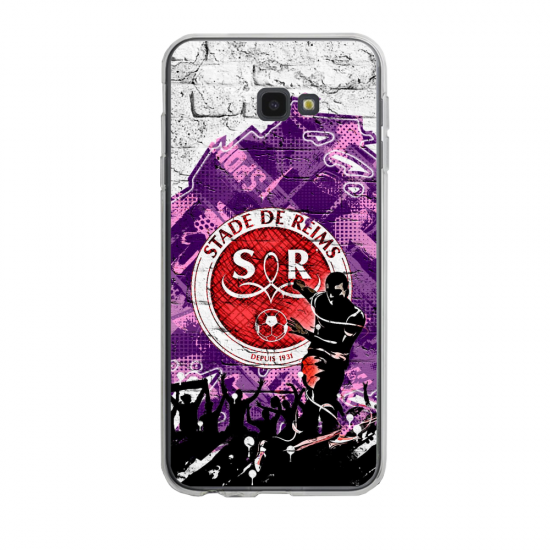 Coque silicone Iphone SE 2020 verre trempé Fan de Ligue 1 Lyon splatter