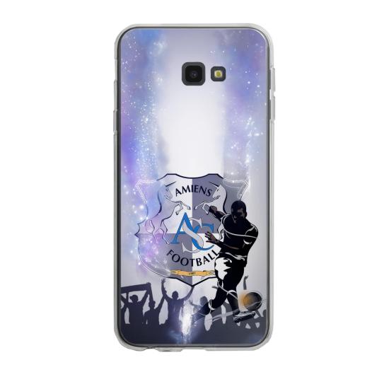 Coque silicone Iphone SE 2020 verre trempé Fan de Ligue 1 Angers splatter