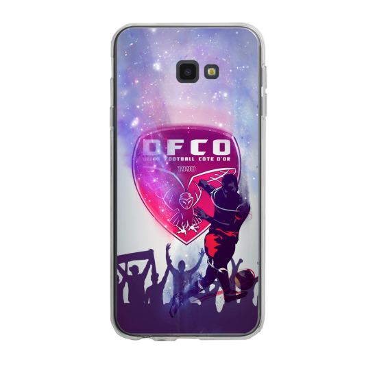 Coque silicone Iphone SE 2020 verre trempé Fan de Ligue 1 St-Etienne cosmic