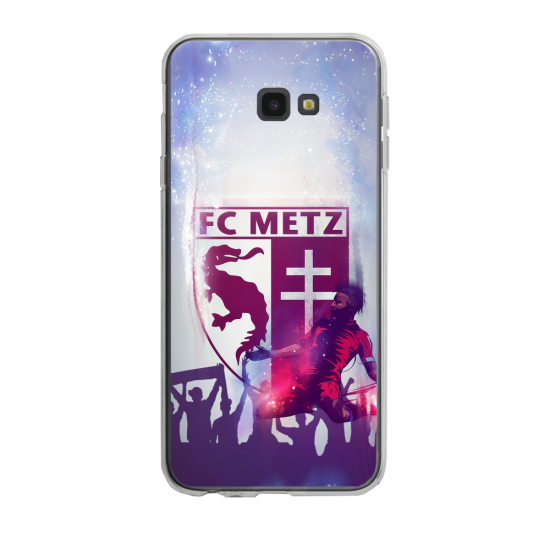 Coque silicone Iphone SE 2020 verre trempé Fan de Ligue 1 Nimes cosmic