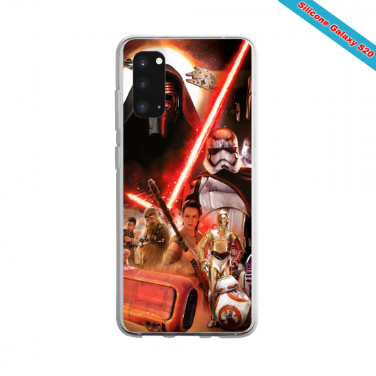 Coque silicone Iphone 6/6S verre Trempé Yoga Papillon