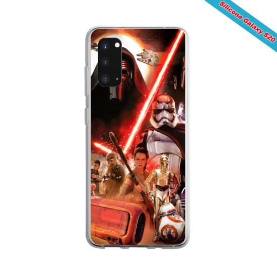 Coque silicone Iphone 6/6S verre Trempé Yoga Papillon