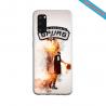 Coque silicone Iphone X/XS verre trempé Yoga Papillon