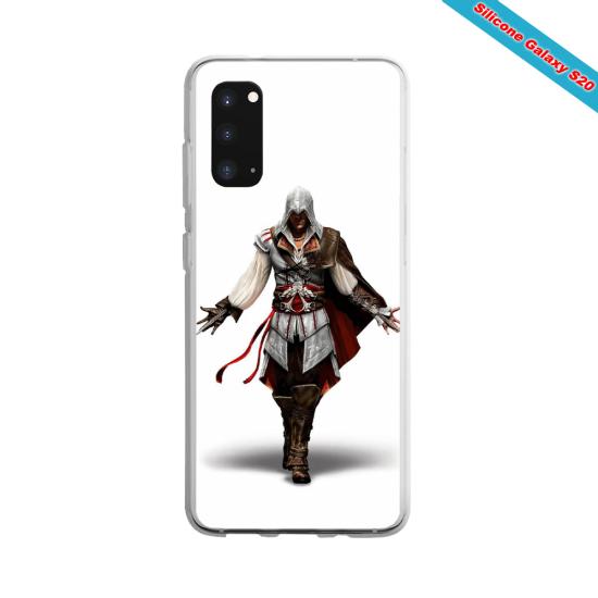 Coque silicone Galaxy A10 Yoga Papillon