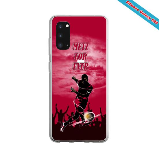 Coque silicone Galaxy A71 Yoga Papillon