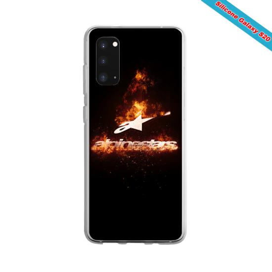 Coque silicone Galaxy J3 2018 Yoga Papillon