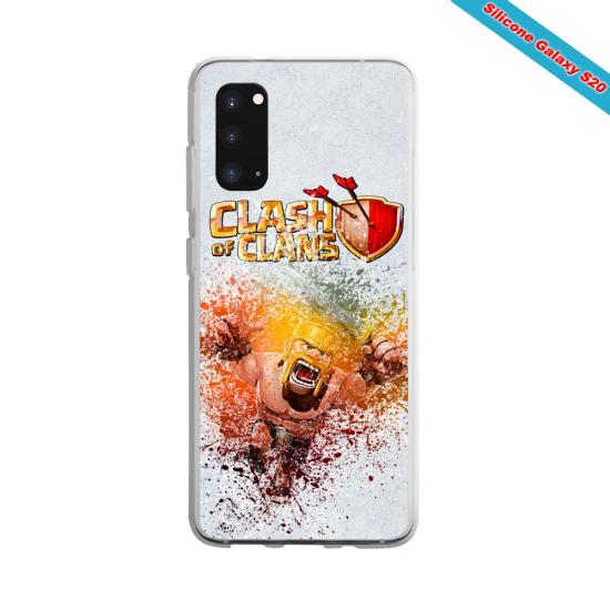 Coque silicone Galaxy J7 2018 Yoga Papillon
